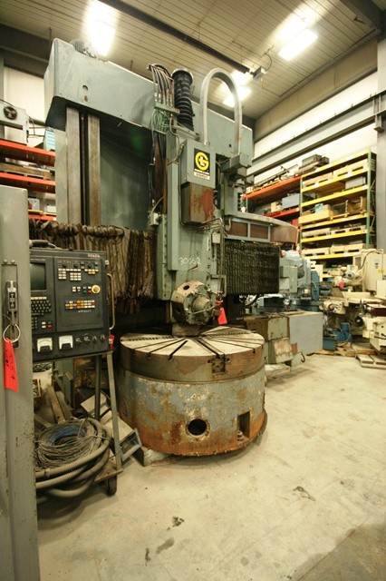 "60"" Giddings & Lewis Gisholt Model VTL60 Vertical Turret Lathe"