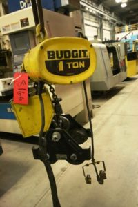 Budgit 1 Ton Electric Chain Hoist with Trolley and Pendant Control