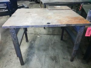 "3' x 4' x 1/4"" Steel Welding Table, 35 1/2"" Table Height"