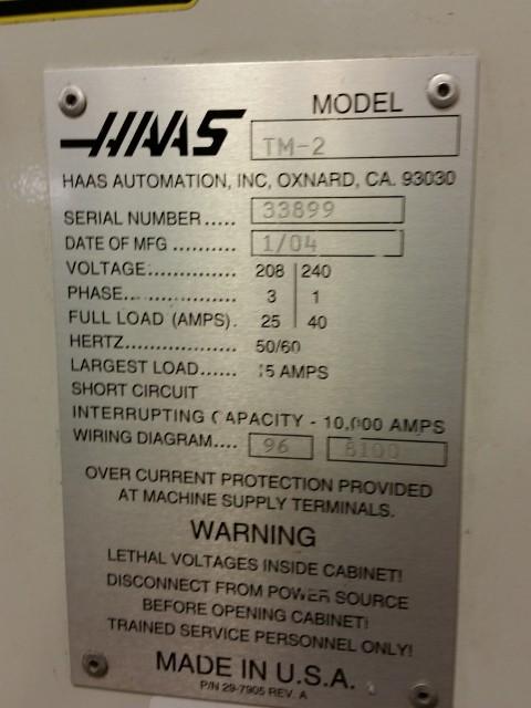 Haas TM-2 CNC Toolroom Mill, 40