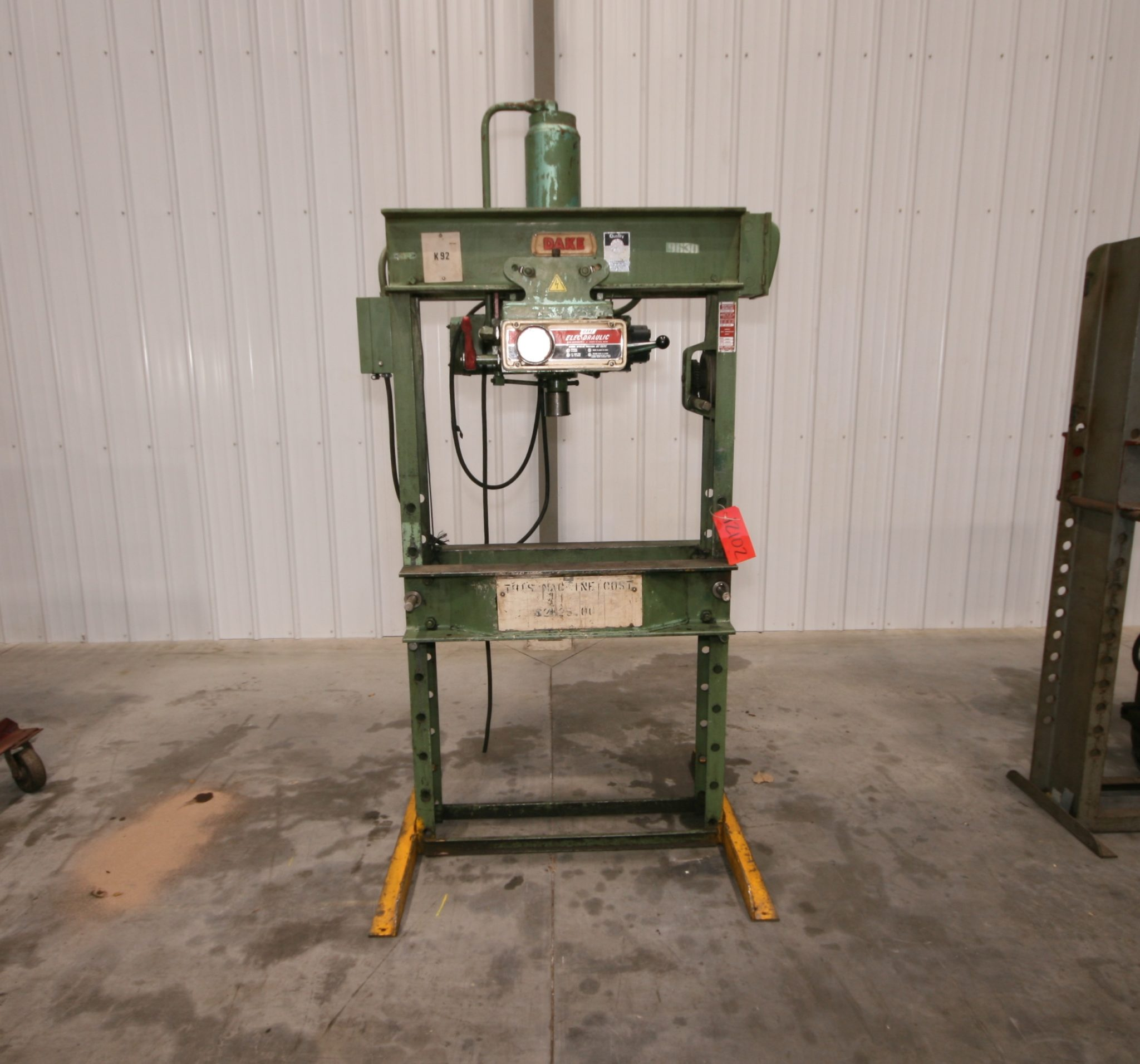 Dake Elec Draulic H Frame Press 50 Ton