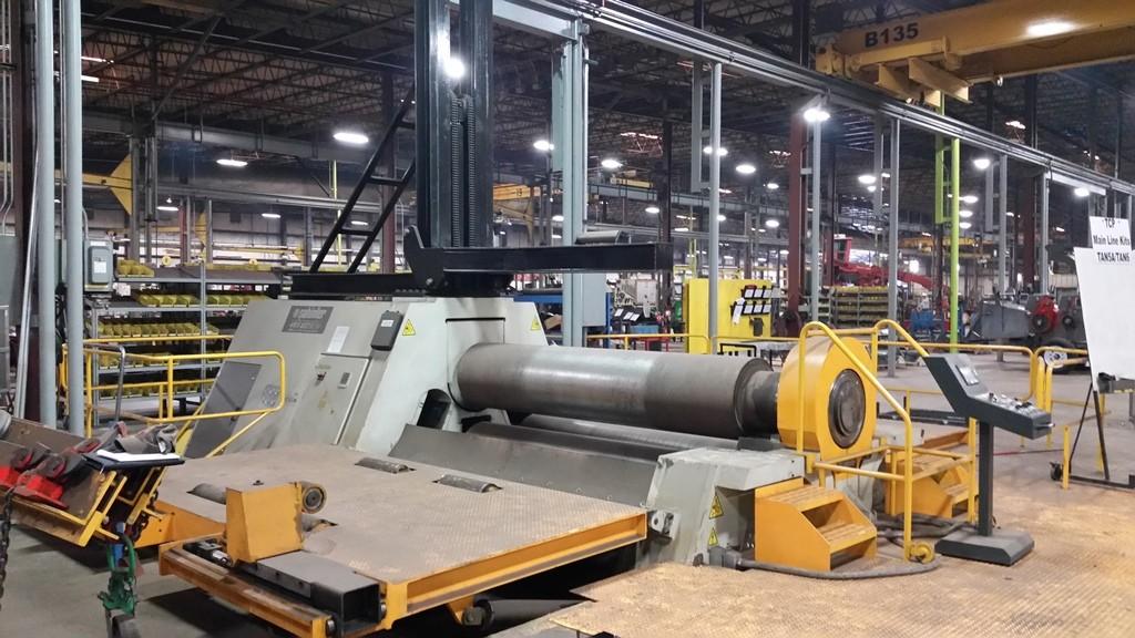 "Cole-Tuve 10' x 2"" Hydraulic CNC 4-Roll Plate Roll, Model 4RS 10-640NC"