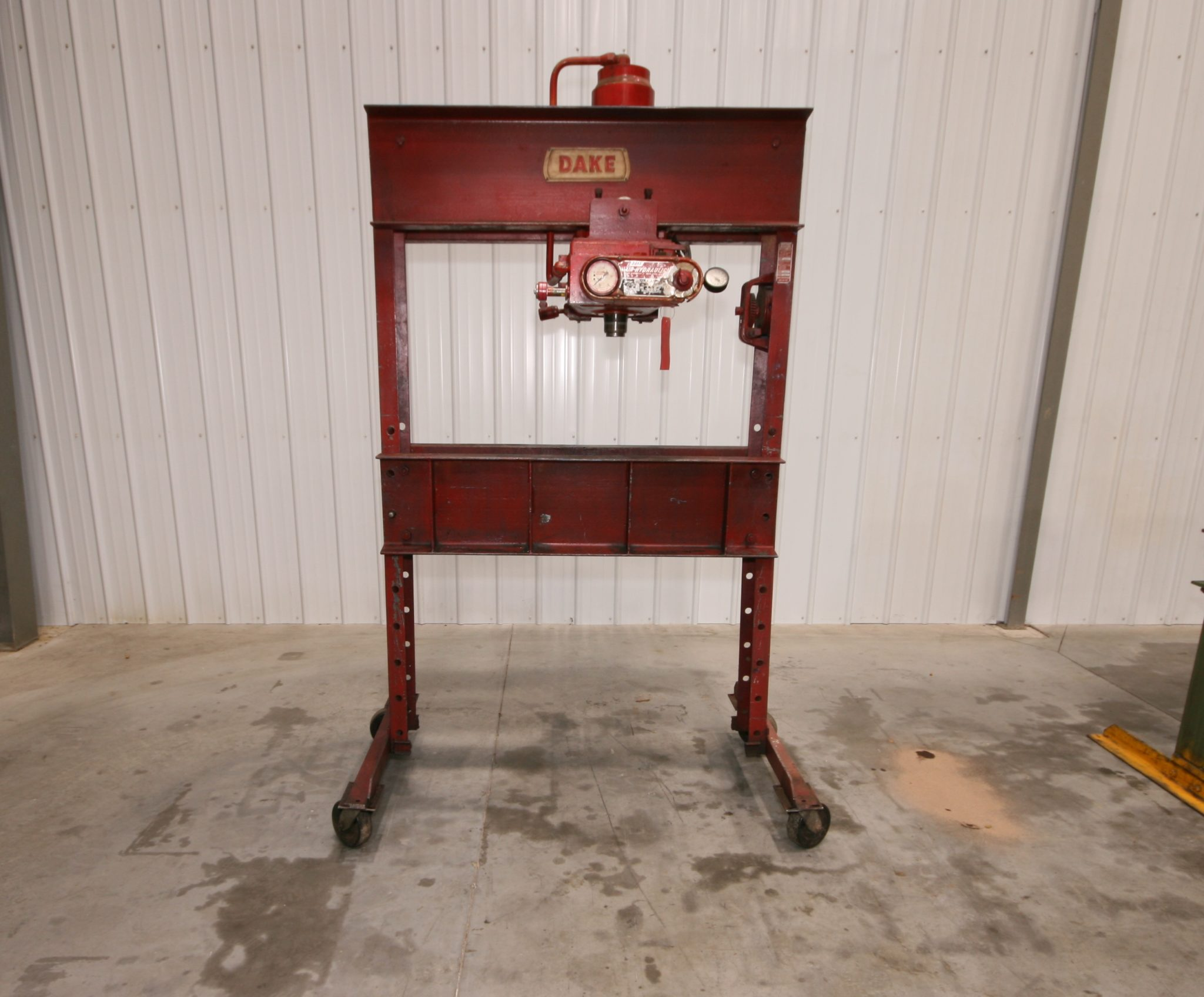 Dake 75 Ton Air Hydraulic H Frame Press Model 6 575