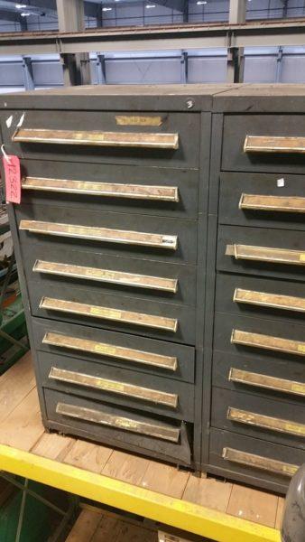 Stanley Vidmar 16 Drawer Double Cabinet