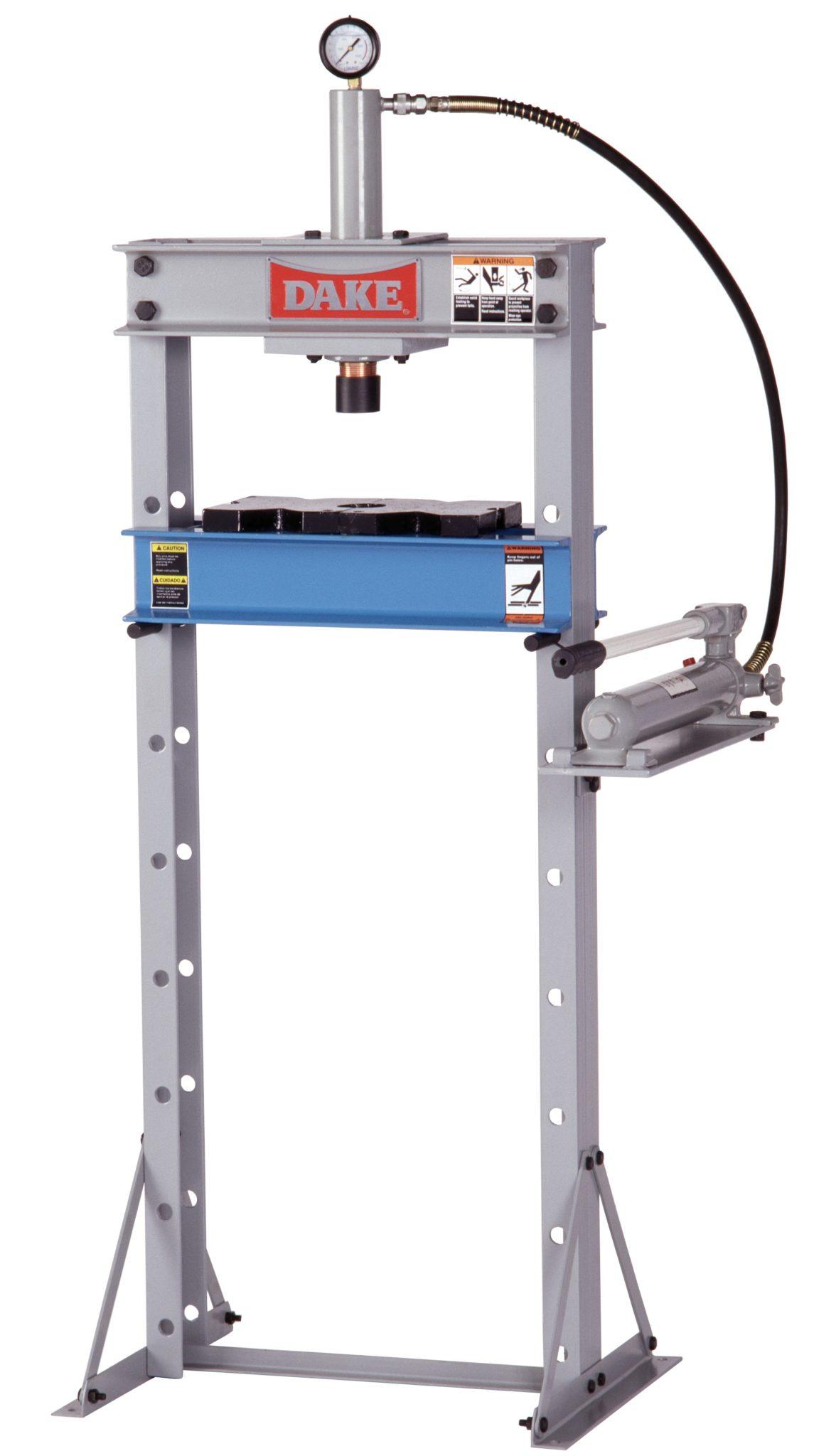 Dake 10 Ton Utility Hydraulic Press Model F 10 New