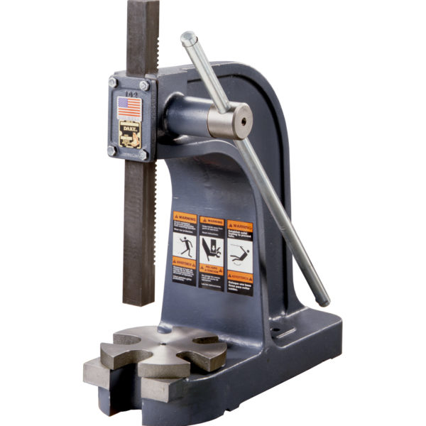 Vertical Lever Press : Dake ton single lever arbor press model new