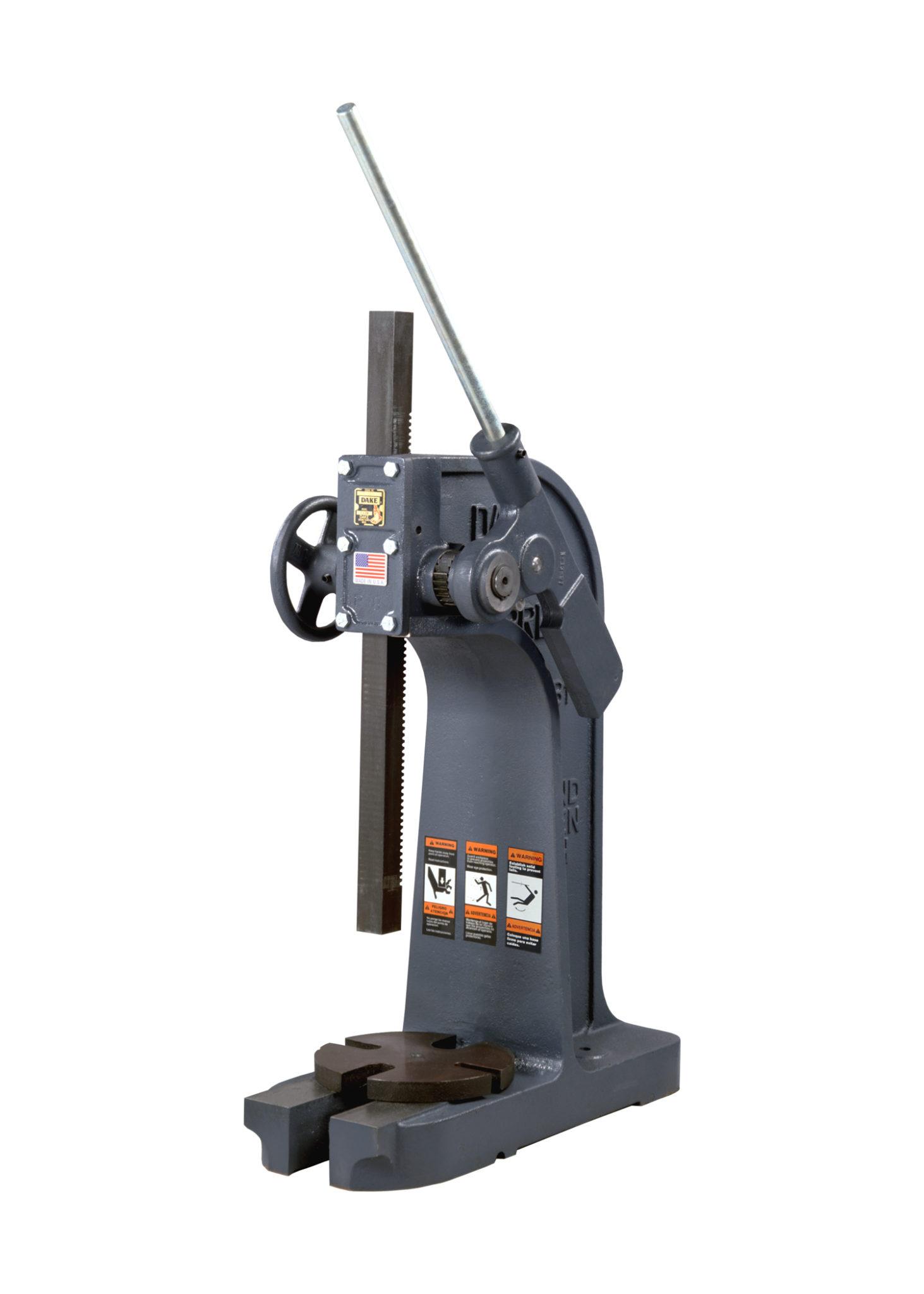 Vertical Lever Press : Dake ton ratchet lever arbor press model b new