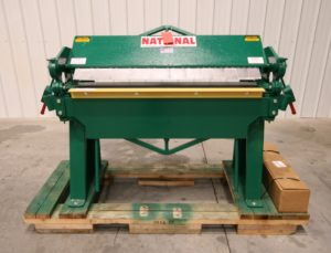 National 4′ x 12 GA Box & Pan Brake, Model U6-4812 – NEW