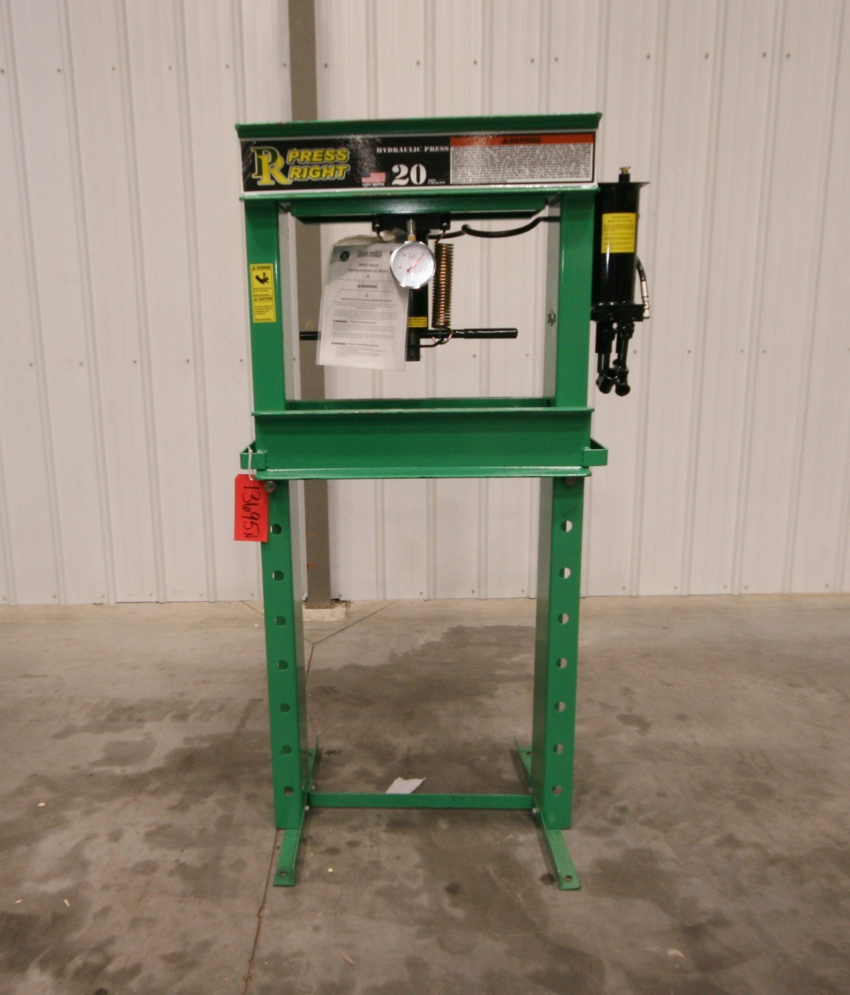 20 Ton Hydraulic Shop Press - NEW